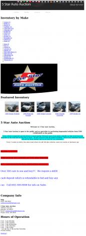5 Star Auto Auction